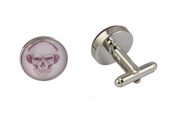 Skull Headphones Cufflinks