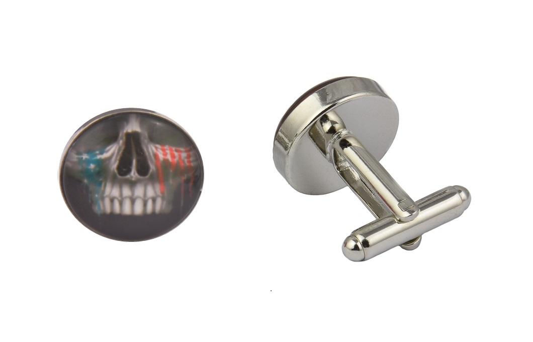 Skull USA Tears Cufflinks