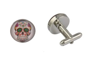 Mexican Sugar Skull White Cufflinks