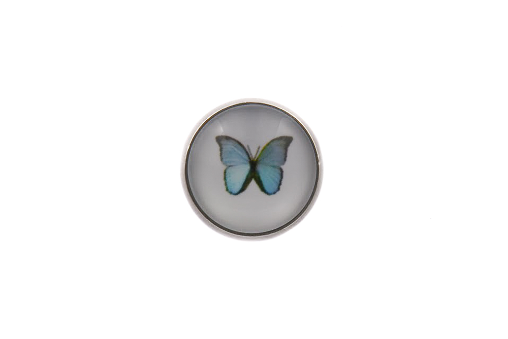 Butterfly Blue Lapel Pin Badge