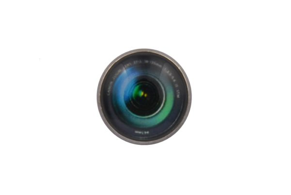 Camera Lens Black Lapel Pin Badge