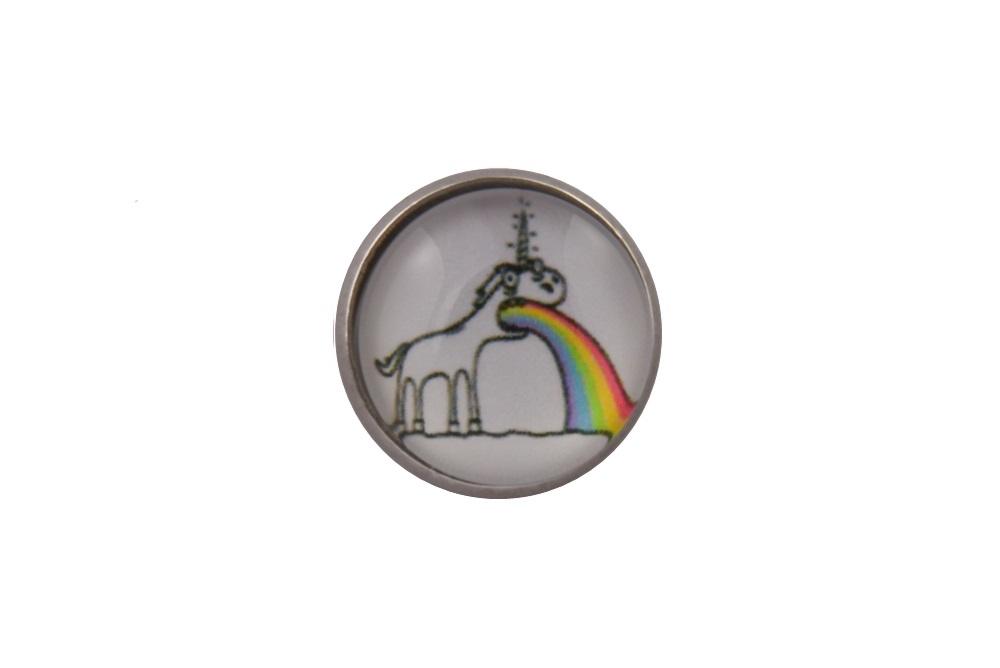 Sick Rainbow Unicorn Lapel Pin Badge