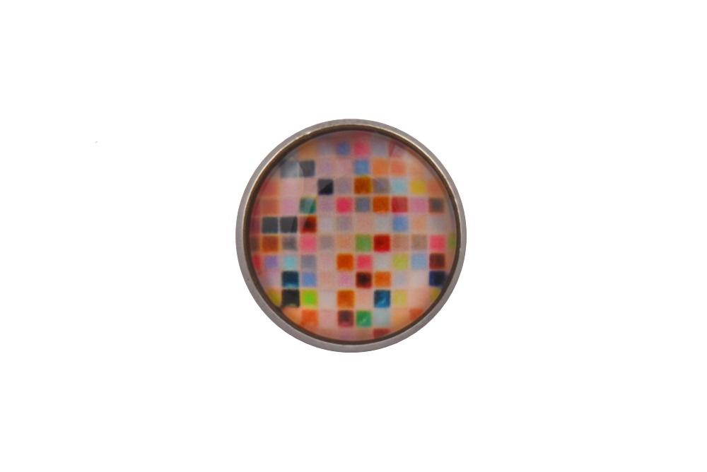 Coloured Mosaic Lapel Pin Badge