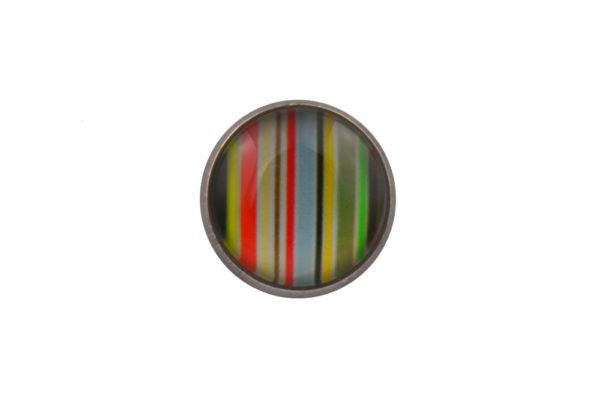 Colourful Stripes Lapel Pin Badge