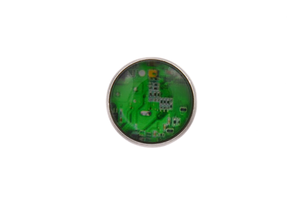 Computer Circuit Green Lapel Pin Badge