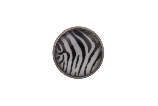 Zebra Stripes Lapel Pin Badge