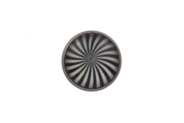 Zebra Swirl Lapel Pin Badge