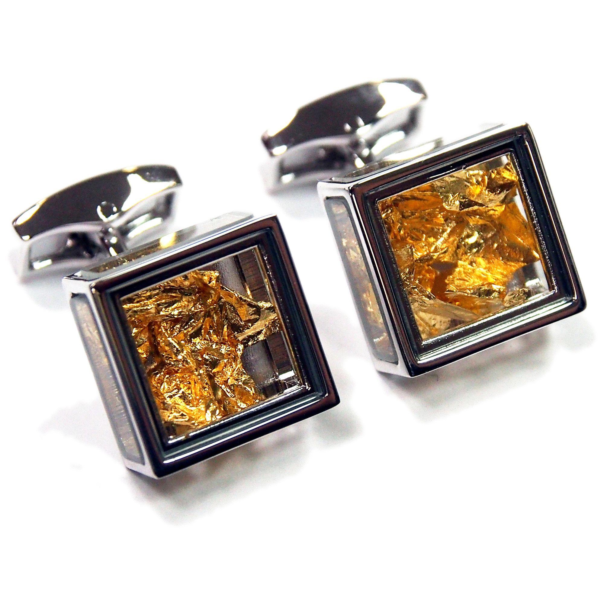 vintage cufflinks gold pandora's box