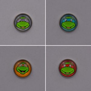 Teenage Mutant Ninja Turtles Lapel Pin Badges Set Of Four