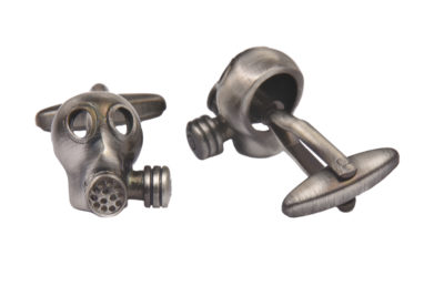 Gas Mask Cufflinks