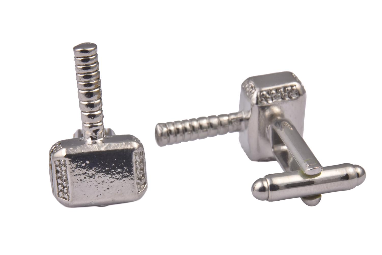Thor Hammer Silver Cufflinks