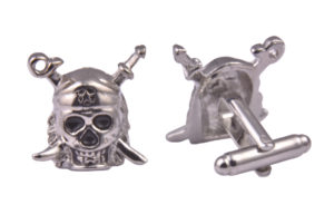 Skull and Crossbones Silver Cufflinks