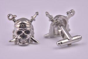 Skull and Crossbones Silver Cufflinks