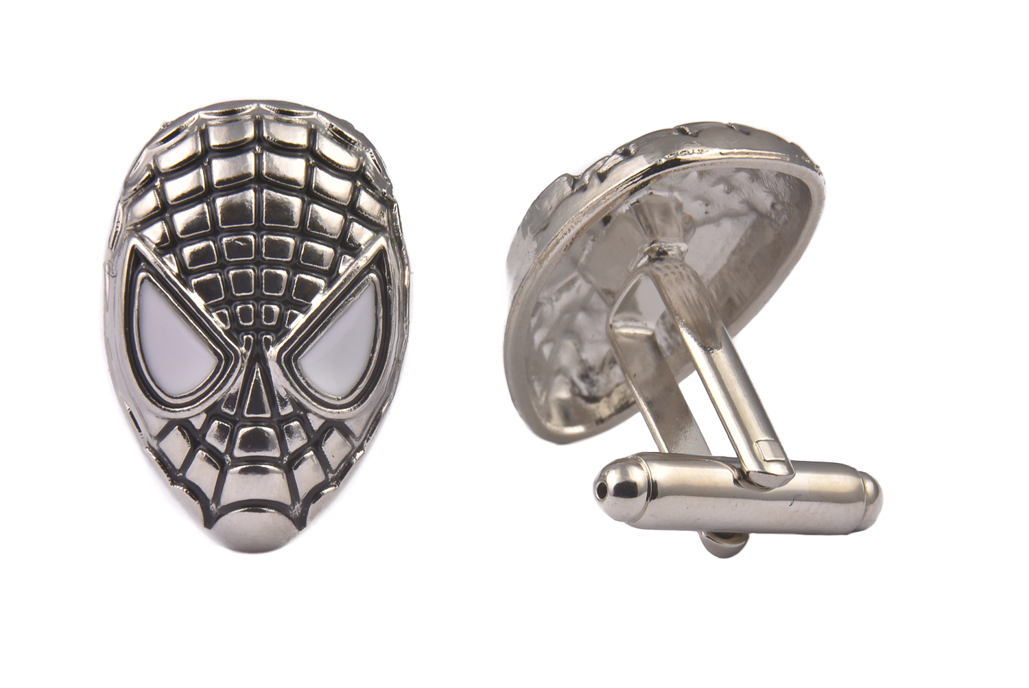 Spiderman Silver Cufflinks