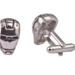 Iron Man Mask Silver Cufflinks