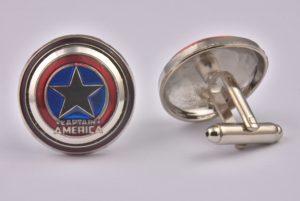 Captain America Colourful Shield Cufflinks