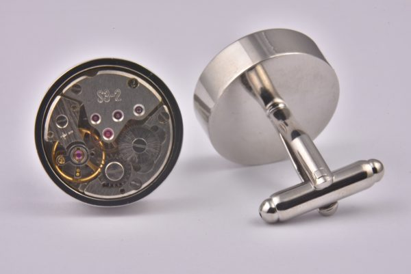 Luxury Exposed Watch Dial Cufflinks