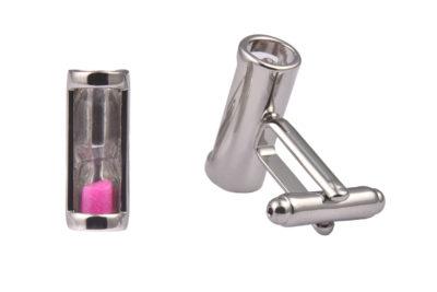 Pink Hourglass Cufflinks