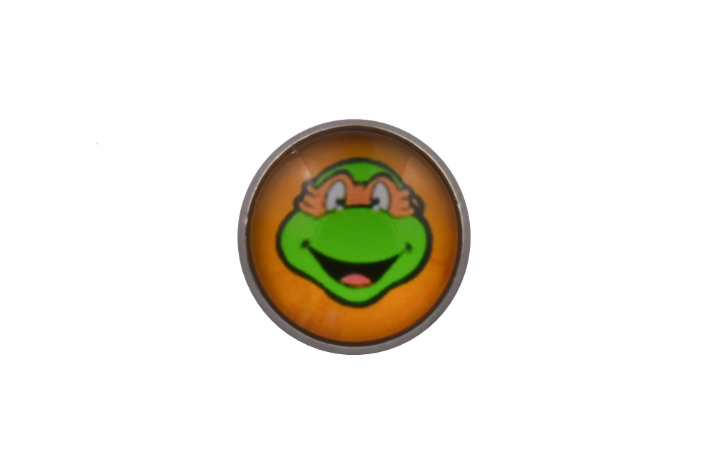 Teenage Mutant Ninja Turtle Michelangelo Lapel Pin Badge