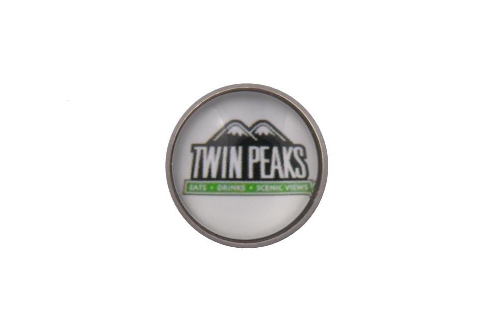 Twin Peaks TV Logo Lapel Pin Badge