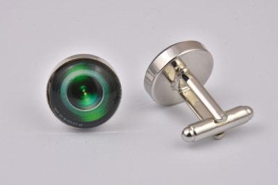 Camera Lens Green Cufflinks