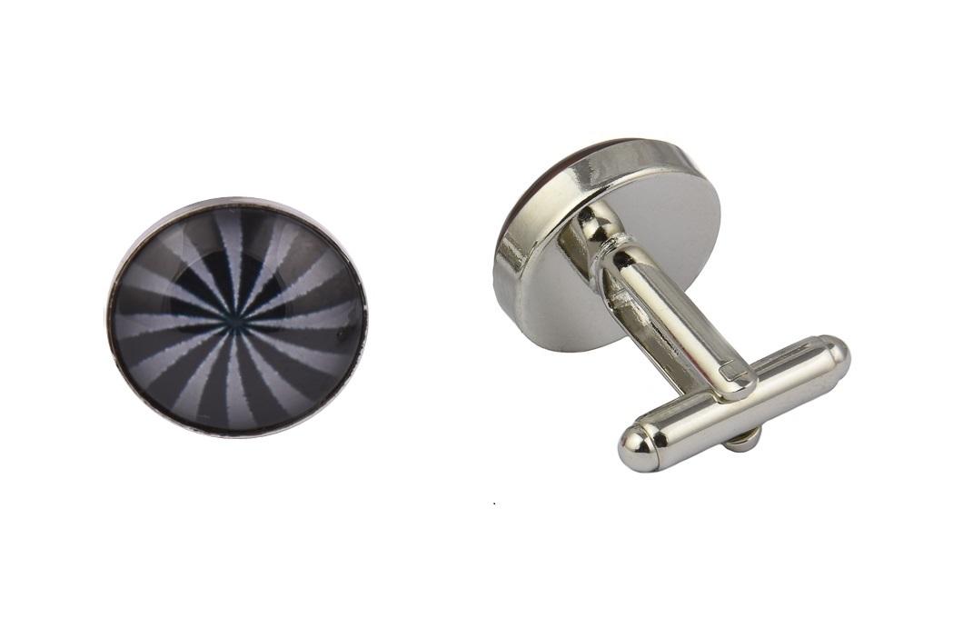 Grey Swirl Pattern Cufflinks