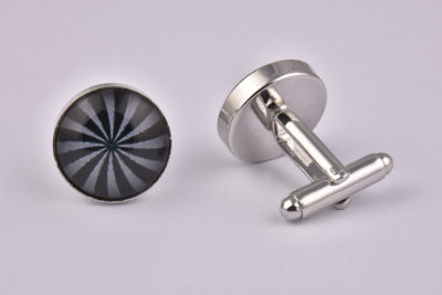 Grey Swirl Pattern Cufflinks