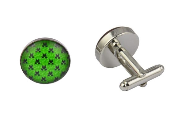 Minecraft Large Pattern Cufflinks