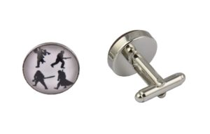 War Silhouette Cufflinks