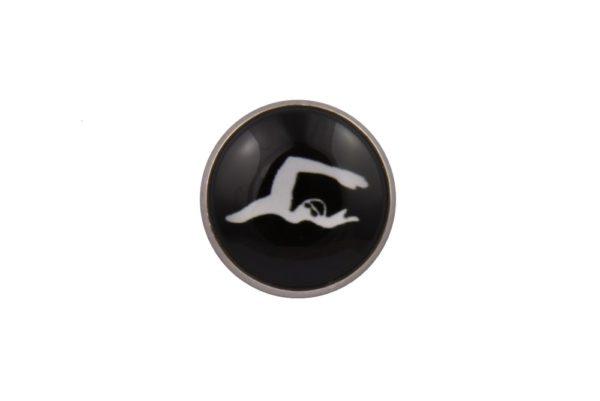 Swimming Lapel Pin Badge