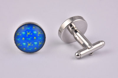 Alien Pattern Cufflinks