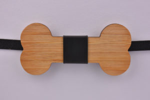 Wooden Bow Tie Bone