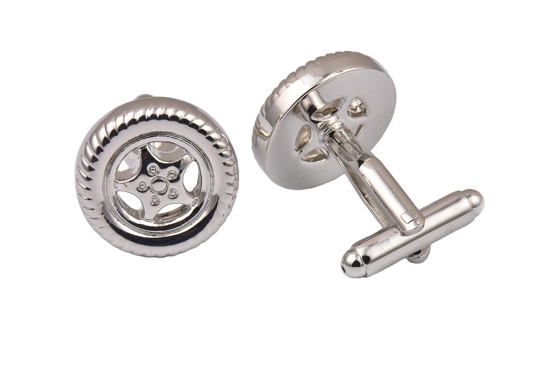 Silver Wheel Cufflinks