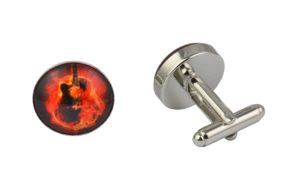 Guitar Fire Cufflinks