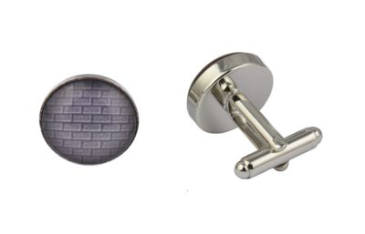 Grey Brick Wall Cufflinks