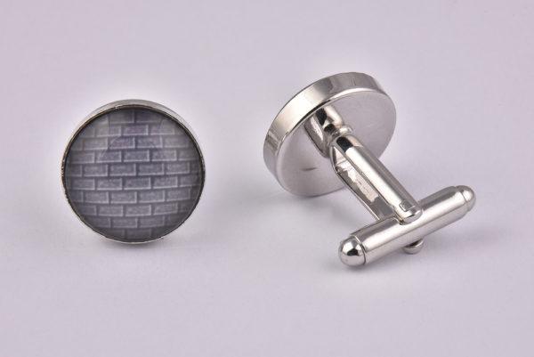 Grey Brick Wall Cufflinks