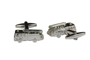 Silver Fire Engine Cufflinks