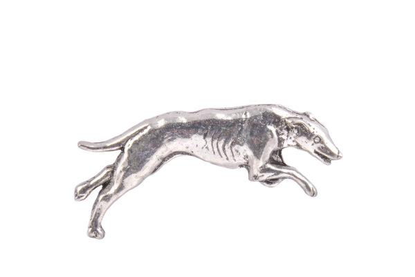 Greyhound Racing Pewter Lapel Pin Badge