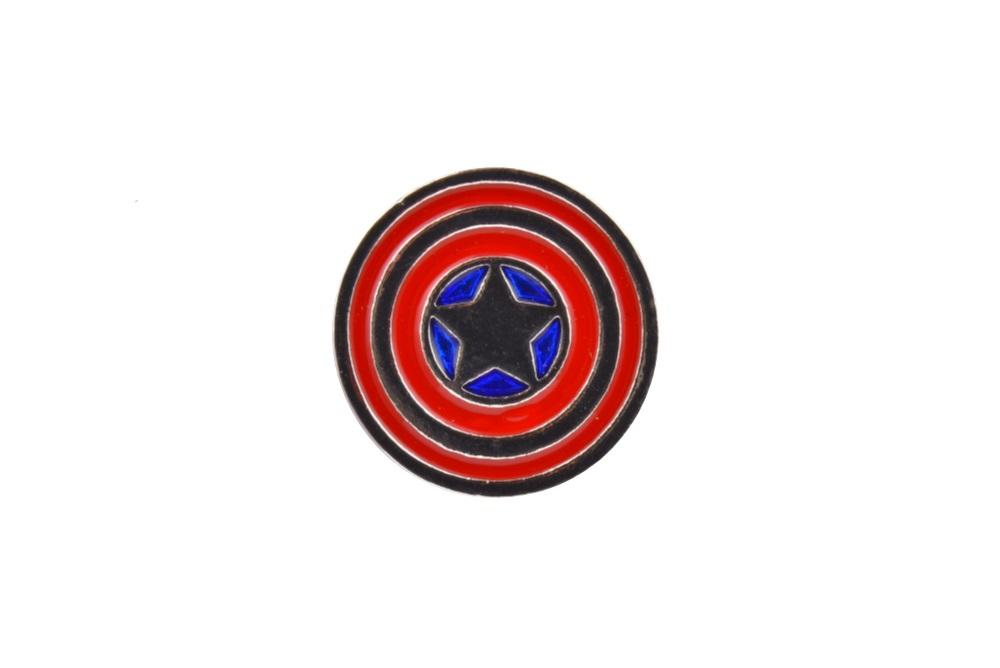 Captain America Logo Lapel Pin Badge