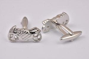 Motorbike Silver Cufflinks