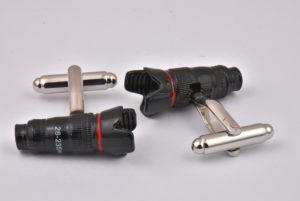 Black Camera Lens Cufflinks