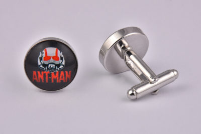Superhero Ant Man Logo Cufflinks