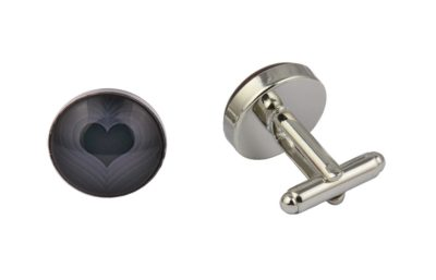 Black Love Heart Cufflinks