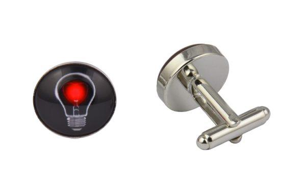 Light bulb Heart Cufflinks