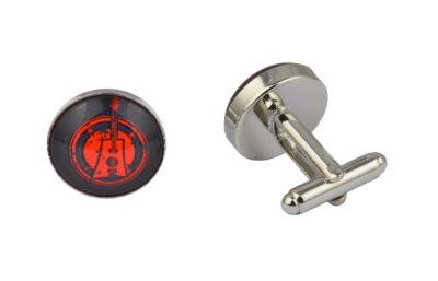Red Guitar Logo Cufflinks