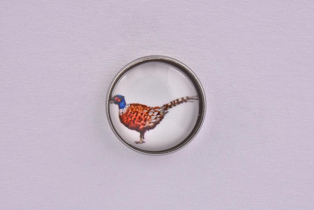 Pheasant Bird Lapel Pin Badge