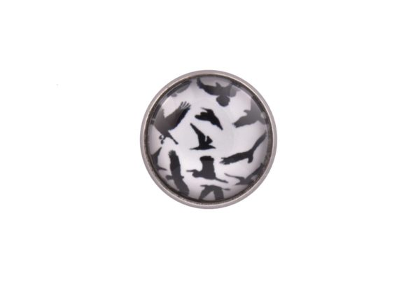 Bird Silhouette Lapel Pin Badge