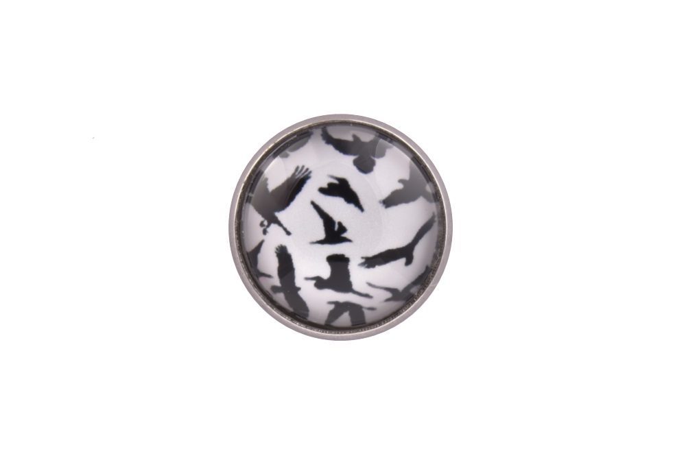 Bird Silhouette Lapel Pin Badge