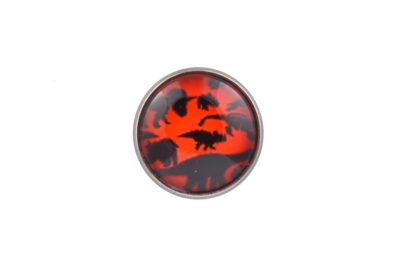 Dinosaur Orange Lapel Pin Badge