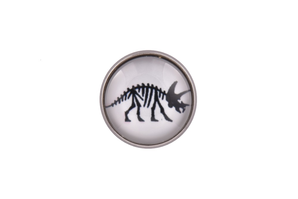 Triceratops Dinosaur Lapel Pin Badge